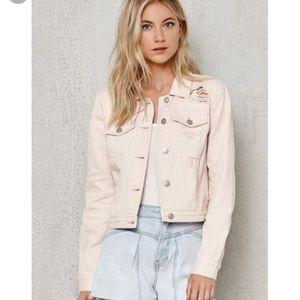 Pacsun Distressed Light Pink Jean Jacket
